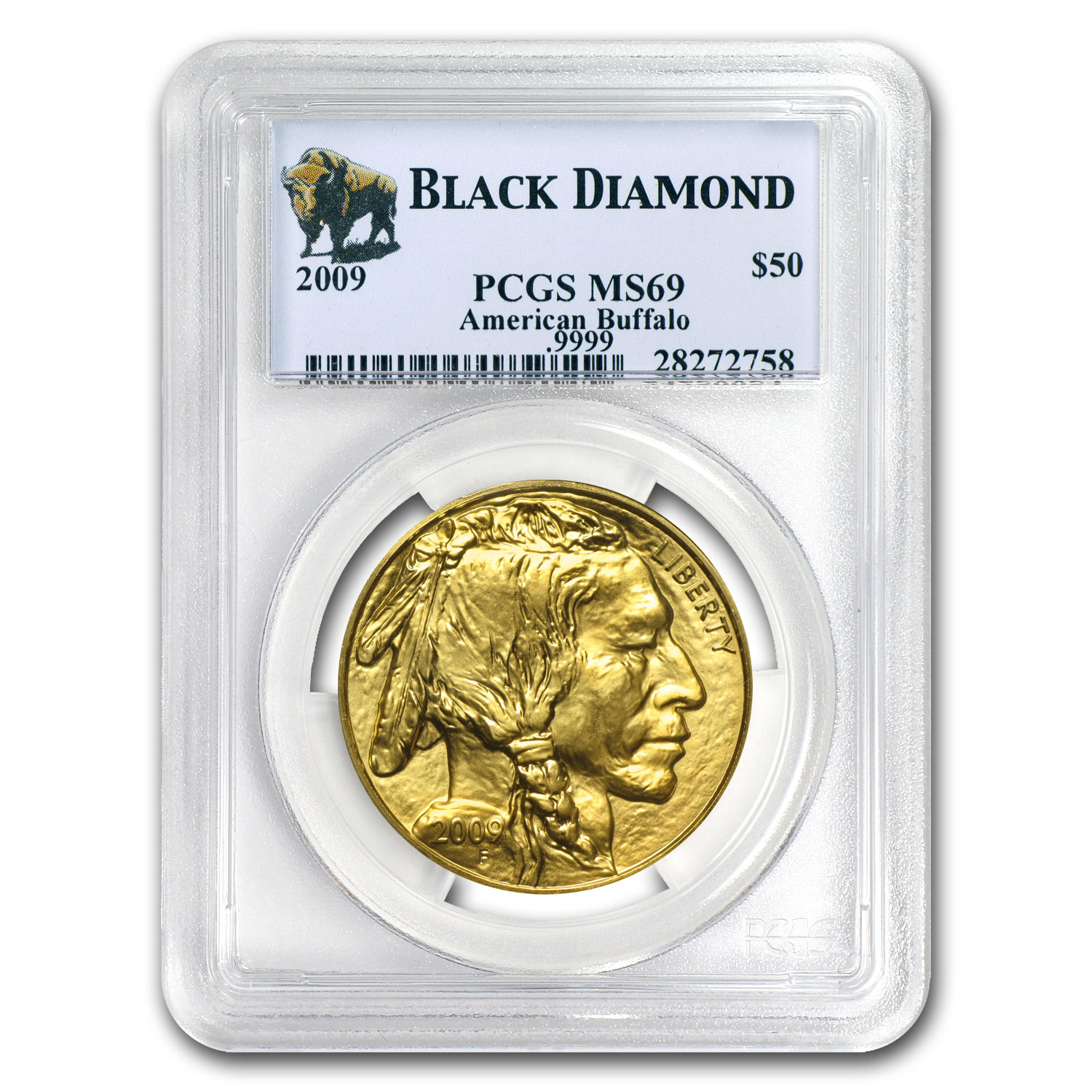 2009 1 oz Gold Buffalo MS-69 PCGS (Black Diamond)